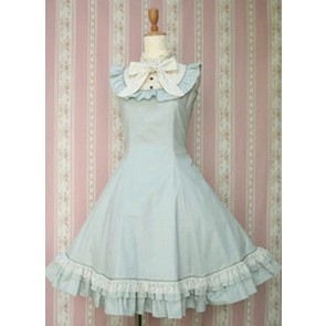 Blue Sleeveless Lovely Lolita Dress