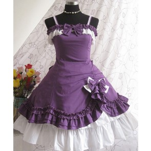 Purple Strap Bow Lovely Lolita Dress