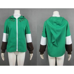 The Legend of Zelda Link Green Jacket Cosplay Costume