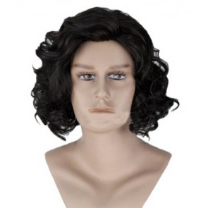 Black 35cm Game of Thrones Jon Snow Cosplay Wig
