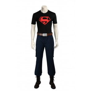 Young Justice Superboy (Conner Kent: Kon-El) Cosplay Costume With Boots