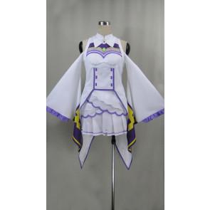 Re:Zero Emilia Cosplay Costume