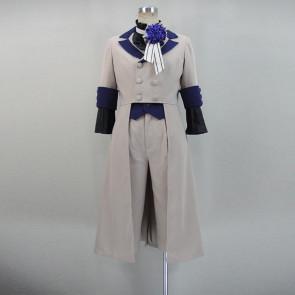 Kuroshitsuji Black Butler Circus Ciel Phantomhive Grey Suit Cosplay Costume