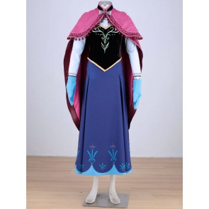 Hot Moive Frozen Princess Anna Cosplay Costume