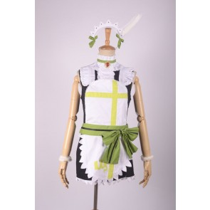 LoveLive! School idol project Hoshizora Rin Green Maid Costume