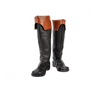 07-Ghost Teito Klein Faux Leather Cosplay Boots
