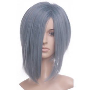Gray 35cm Kingdom Hearts Zexion Nylon Cosplay Wig