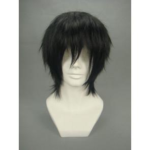Black 32cm Black Butler Kuroshitsuji Lau Nylon Cosplay Wig