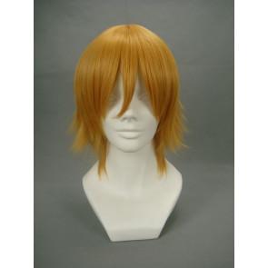 Golden 32cm Gundam Seed Cagalli Yula Athha Nylon Cosplay Wig