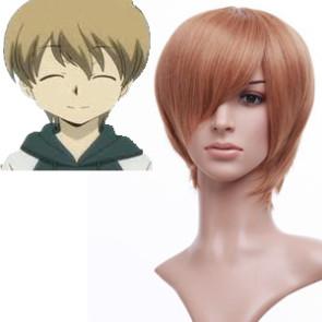 32cm Golden Flax Mixed Katekyo Hitman Reborn! Futa Cosplay Wig