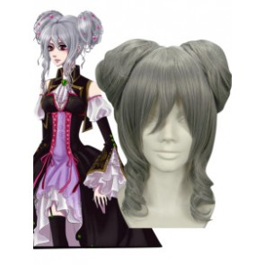 Silver 35cm Vocaloid High-temperature Resistance Fibre Cosplay Wig