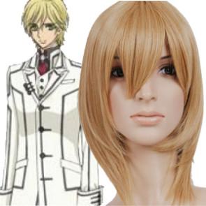 35cm Golden Flax Mixed Vampire Knight Ichijou Takuma Nylon Cosplay Wig