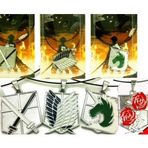 4-Piece Attack On Titan Cosplay Necklace Set