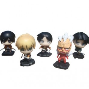 5-Piece Attack On Titan PVC Action Figure Set