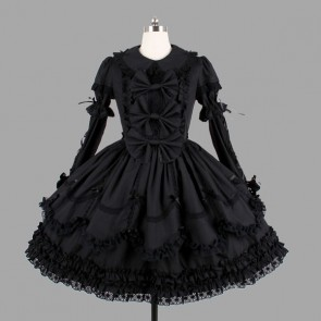 Black Bows Elegant Gothic Lolita Dress
