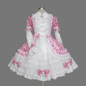 Pink And White Bandage Bows Cute Lolita Dress