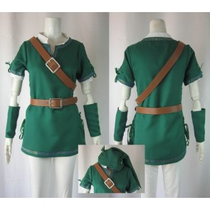 The Legend of Zelda Link Green Cosplay Costume