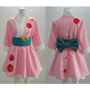 K-ON! Yui Hirasawa Pink Kimono Cosplay Costume