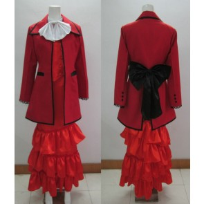 Kuroshitsuji Black Butler Madam Red Angelina Dalles Cosplay Costume