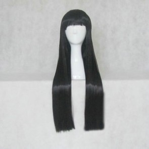 Black 80cm Hell Girl Ai Enma Cosplay Wig