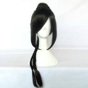 Black 75cm Final Fantasy 10 FF 10  Lulu Nylon Cosplay Wig