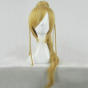 Gold 90cm Final Fantasy X Rikku Cosplay Wig