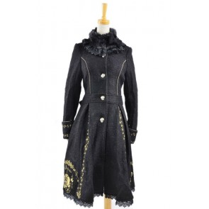Charming Black Wool Lolita Coat