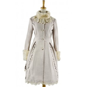 Charming Sweet White Wool Lolita Coat