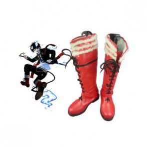 Ao no Exorcist Rin Okumura Red Faux Leather Cosplay Boots