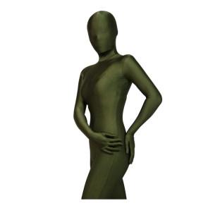 Army Green Lycra Spandex Unisex Zentai Suit
