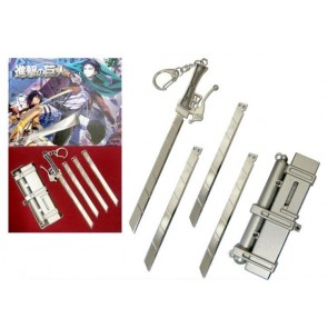 Attack On Titan Weapon Keychain Set