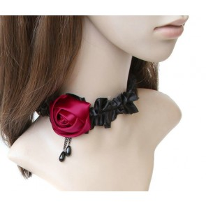 Attractive Rose Floral Lolita Necklace