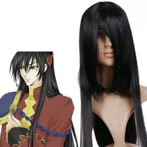 Black 120cm Code Geass R2 Li Xingke Cosplay Wig