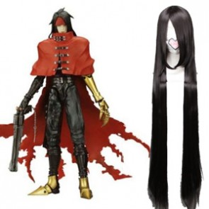 Black 120cm Final Fantasy Vincent Valentine Cosplay Wig
