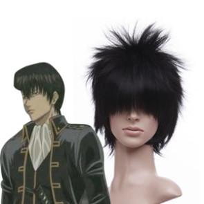 Black 30cm Gintama Hijikata Toushirou Cosplay Wig