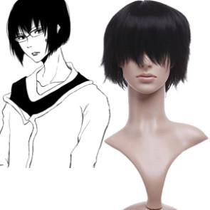 Black 32cm Katekyo Hitman Reborn! Kakimoto Chikusa Cosplay Wig