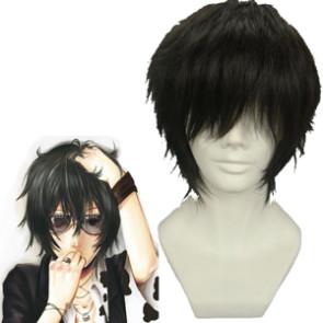 Black 32cm Katekyo Hitman Reborn! Lambo Cosplay Wig