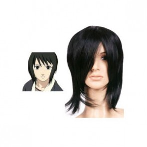 Black 32cm Naruto Shizune Cosplay Wig