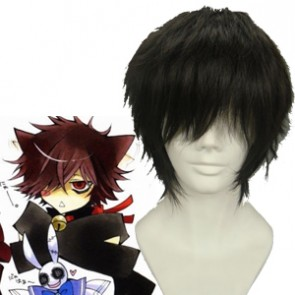 Black 32cm Pandora Hearts Cheshire Cosplay Wig