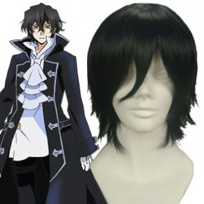 Black 32cm Pandora Hearts Gilbert Nightray Cosplay Wig