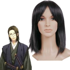 Black 40cm Hakuouki Yamanami Keisuke Cosplay Wig