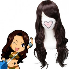Brown 65cm Fairy Tail Cana Alberona Cosplay Wig
