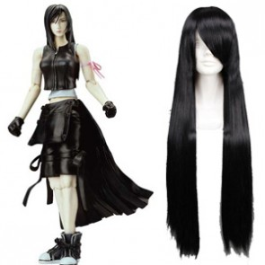 Black 80cm Final Fantasy Tifa Lockhart Cosplay Wig