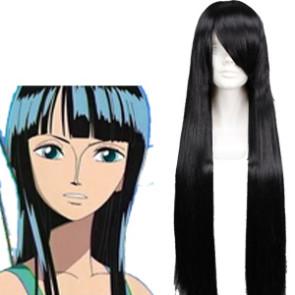 Black 80cm One Piece Nico Robin Cosplay Wig