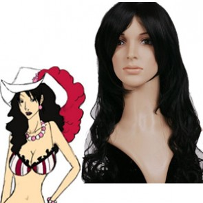 Black 90cm One Piece Alvida Cosplay Wig