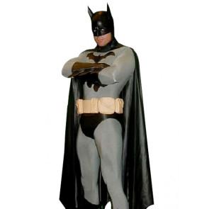 Black And Gray Batman Lycra Spandex Superhero Zentai Suit