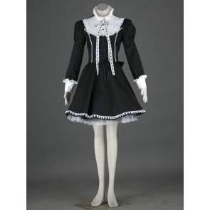 Black and White Long Sleeves Lolita Dress