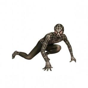 Black And White Lycra Spandex Spiderman Zentai Suit