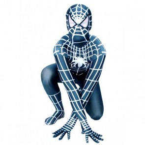 Black And White Spiderman Lycra Spandex Zentai Suit