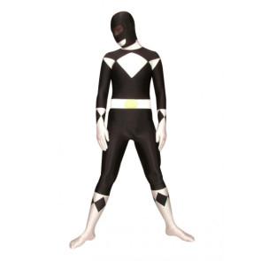 Black And White Universal Soldier Lycra Spandex Superhero Zentai Suit